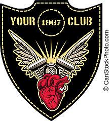 klub, embléma, motor