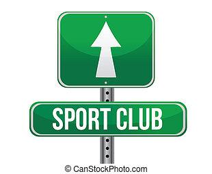 klub, sport, út cégtábla