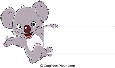 koala, aláír