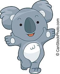 koala, barátságos