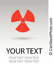 kockázat, sugárzás, aláír, jelkép