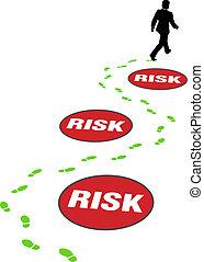kockáztat, ügy, veszély, elkerül, értékpapírok bábu