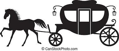 kocsi, ló