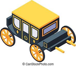 kocsi, mód, ikon, fényűzés, isometric
