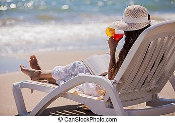 koktél, ivás, tengerpart