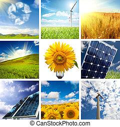 kollázs, új, energia