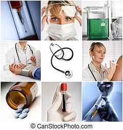 kollázs, orvosi