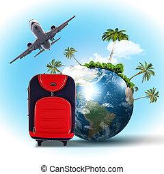 kollázs, utazás idegenforgalom