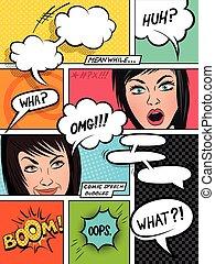 komikus, beszéd, panama, érzelmek