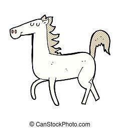 komikus, ló, karikatúra