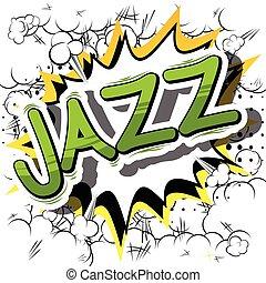 komikus, word., -, könyv, dzsessz