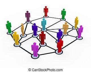 kommunikáció, 3, hálózat, ügy emberek