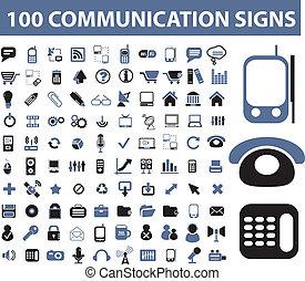 kommunikáció, cégtábla, 100