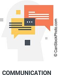 kommunikáció, fogalom, ikon