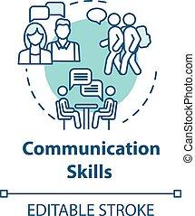 kommunikáció, fogalom, ikon, szakértelem