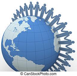 kommunikáció, globális, 3, emberek