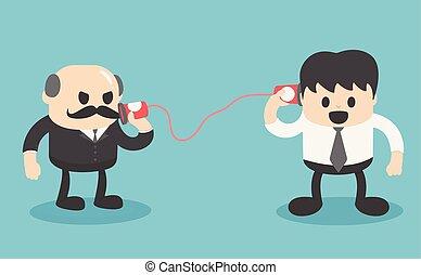 kommunikáció, között, ügy emberek