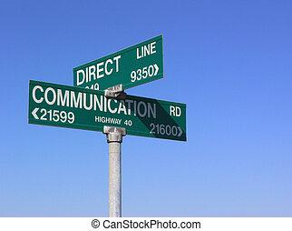 kommunikáció, közvetlen