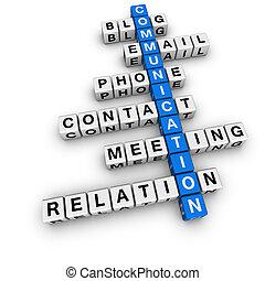 kommunikáció, keresztrejtvény