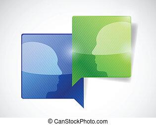 kommunikáció, tervezés, ábra, emberek