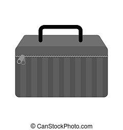 konfekcionőr, ikon, elszigetelt, felszerelés