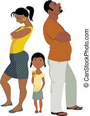 konfliktus, család, affects, gyerekek