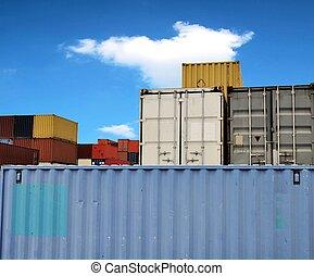 konténer, kikötő