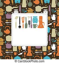 konyha, kártya