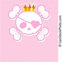 koponya, rózsaszínű, fejtető