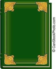 korán, öreg, könyv, zöld