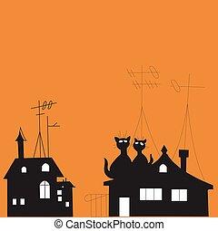korbácsok, ábra, tető