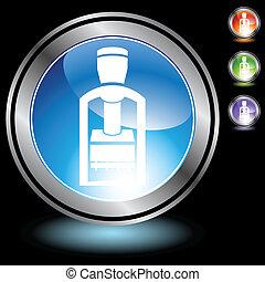 króm, szerszám, bélyegzés, ikon