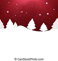 kreatív, tervezés, karácsony, háttér, tél