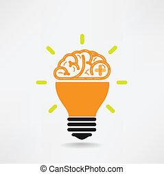 kreativitás, ügy, tudás, agyonüt, kreatív, ikon, aláír, jelkép, oktatás