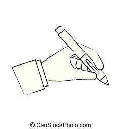kreativitás, kéz, akol, szökőkút, művészi, birtok