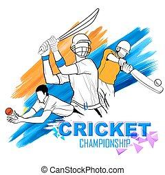krikett, repülőgép leszállását zászlóval irányító személy, játék, bajnokság