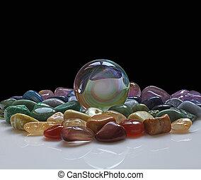 kristály labda, gyógyulás, jóslatok