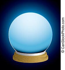 kristály labda, szerencse bankpénztáros