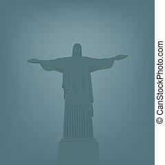 krisztus, ellen-, jézus, rio, szobor, ja