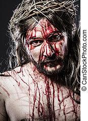 krisztus, fejtető, jézus, tövis, kálváriadomb, ábrázolás