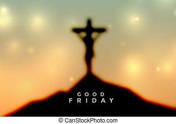 krisztus, jó, húsvét, péntek, színhely, keresztre feszítés, jézus