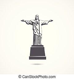 krisztus, janeiro, ellen-, jézus, rio, szobor