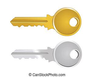 kulcs, ábra, vektor