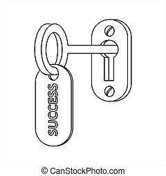 kulcs, success.