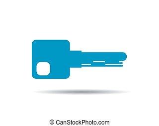 kulcs, vektor, ábra, ikon