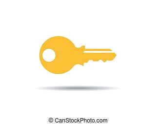 kulcs, vektor, ikon, ábra