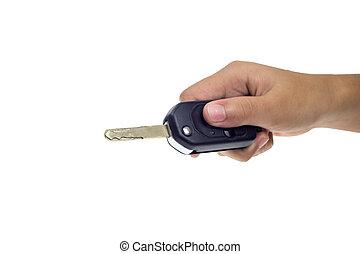 kulcsok, autó, kezezés., bábu
