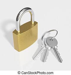 kulcsok, lakat