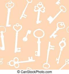 kulcsok, seamless, háttér