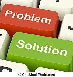 kulcsok, segítség, kibogoz, oldás, számítógép, online, probléma, látszik
